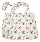 Floral / Flower Design Fold Up Shopping Bag In Pouch With Clip Attachment - Design 2